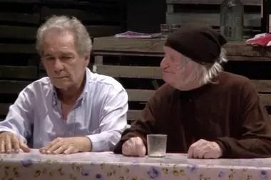 Hugo Arana y Pepe Soriano, en La Nona