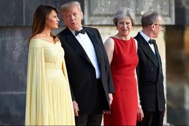 Melania, Trump, Theresa May y su marido asistieron hoy a una gala