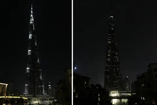 El edificio más alto del mundo, en Dubai, fue protagonista de La Hora del Planeta. Foto: Reuters