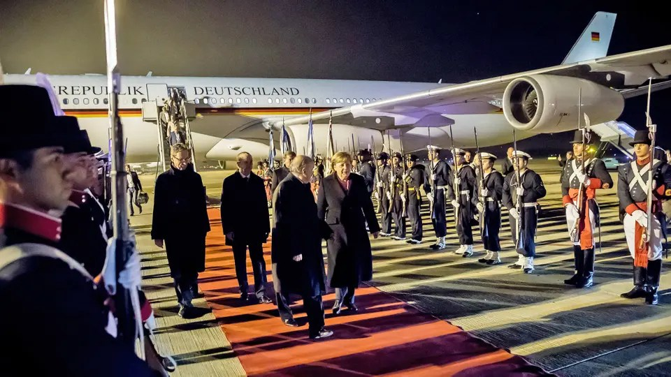 Merkel llegó a la Argentine hoy en la madrugada. Foto: DPA / Michael Kappeler