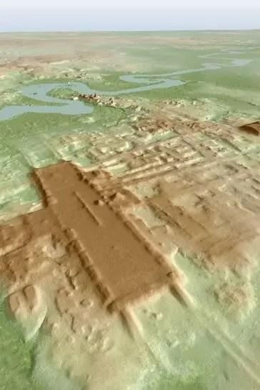 Reconstrucción 3D del hallazgo arqueológico que, según los arqueólogos, revela el trabajo comunitario que existió en los albores de la civilización maya