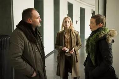 Tres protagonistas de The Bridge: Kim Bodnia, Sarah Borberg y Sofia Helin