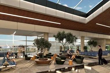 Uno de los render que muestran cómo quedará el aeropuerto