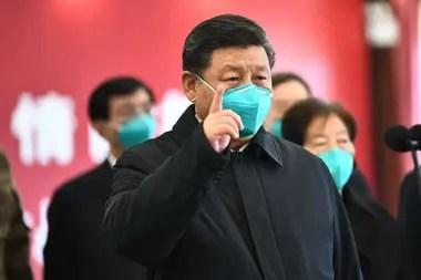 El líder chino, Xi Jinping, durante una alocución sobre la guerra contra el coronavirus