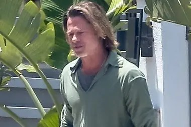 The paparazzi found Brad Pitt in the streets of Los Angeles wearing the long hair and the roots grown