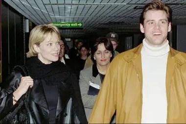 Carrey junto a la actriz Lauren Holly