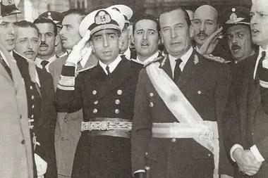 El almirante Rojas y el general Aramburu, en 1956