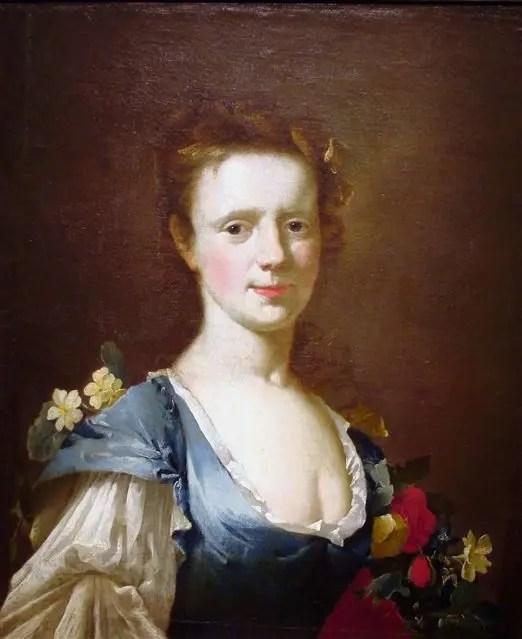 Mujer joven vestida de azul (ca. 1740), James Latham