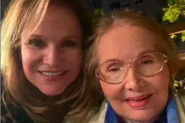 Lucía Galán y su madre, María, de 96 años, festejaron Navidad juntas