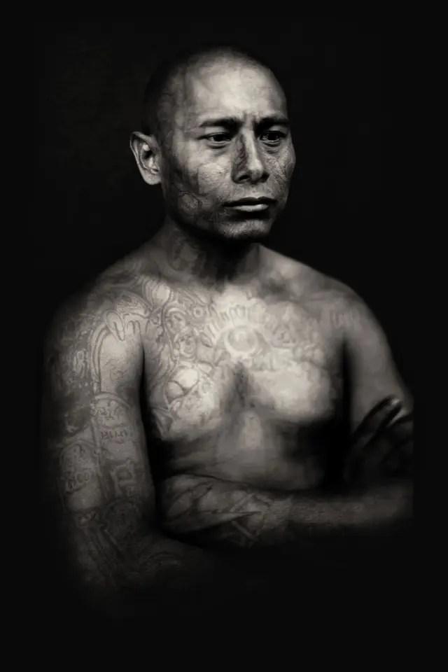 Pandilleros juveniles, carcel Chimaltenango, Guatemala, 2008. Una de las fotografías que integran la muestra Cámara afgana en FoLa