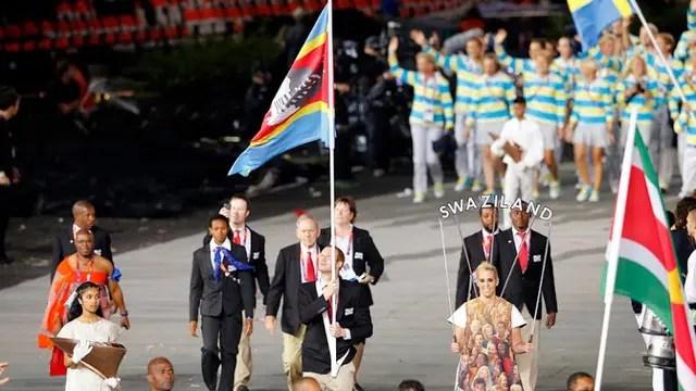 La delegación de Suazilandia