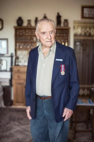 Ronald David Scott, is 101 years old and was one of the 270 Argentine pilots of the RAF