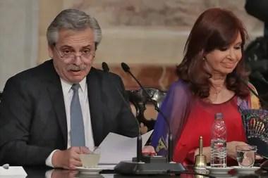 Alberto Fernández junto a Cristina Kirchner