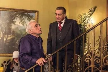 Martin Scorsese y Robert De Niro en el set de filmación
