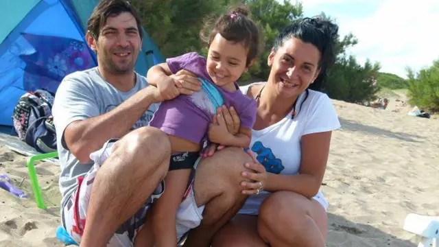 Viviana Sampayo siempre festeja de vacaciones