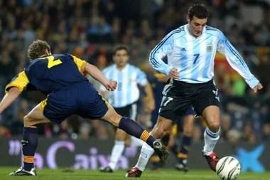 Seis partidos jugó Scaloni en la selección mayor, y apenas uno por las eliminatorias: sí, el 26 de marzo de 2005, en La Paz, la última vez que la Argentina volvió del Altiplano con un éxito