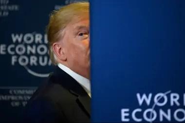 Trump insistió en Davos en que los activistas climáticos son