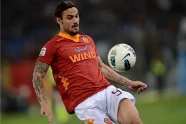 Daniel Osvaldo en su paso por Roma
