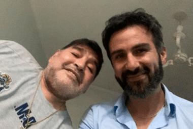Maradona y el doctor Leopoldo Luque, su médico personal