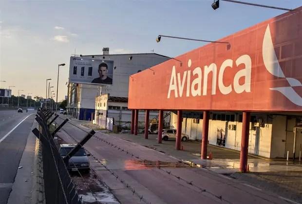 El hangar de Avianca, en Aeroparque