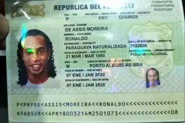 La documentación falsa con la que Ronaldinho ingresó a Paraguay