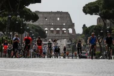 Los romanos salieron a disfrutar del aire libre