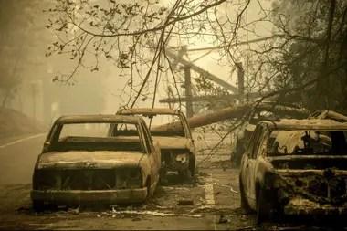 El incendio forestal convirtió a Paradise en una ciudad fantasma