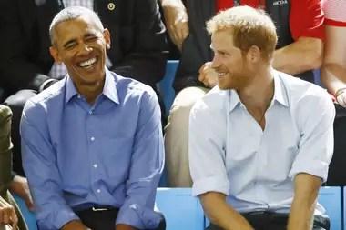 Obama y el príncipe Harry, en 2017