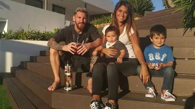 Messi junto a su familia