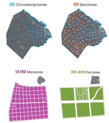 Los datos catastrales oficiales que figuran en la web del gobierno de la ciudad de Buenos Aires