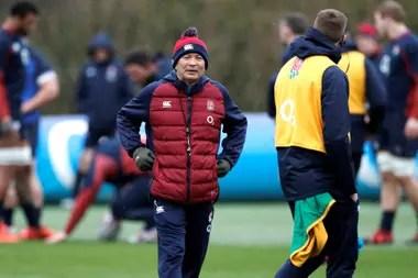 Eddie Jones, el entrenador de Inglaterra.