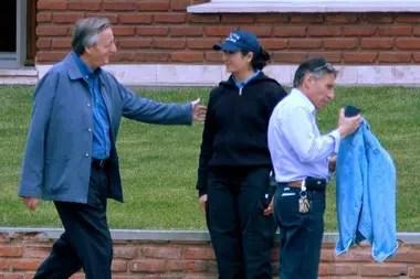 Néstor Kirchner, junto al exsecretario Roberto Néstor Sosa