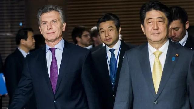 Macri y Shinzo Abe mantuvieron un encuentro, firmaron documentos, dieron una conferencia de prensa y compartieron una comida