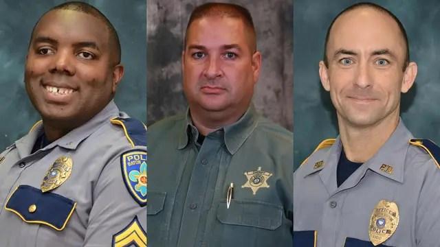 Montrell Jackson, de 32 años, Matthew Gerald, de 41, y Brad Garafola, de 45
