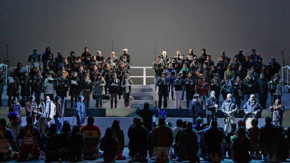 Ensayo general de los festejos por el Bicentenario en Plaza Vaticano con Maximiliano Guerra a la cabeza. Foto: Estrella Herrera-gv/GCBA