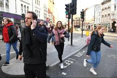 Escenas de pánico en el centro londinense