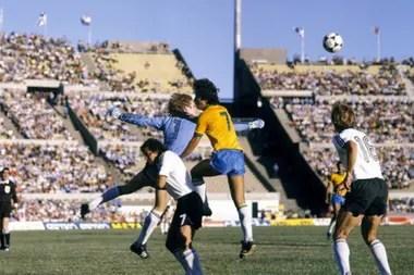 El estadio Centenario, sede de Brasil 4 vs. Alemania 1.
