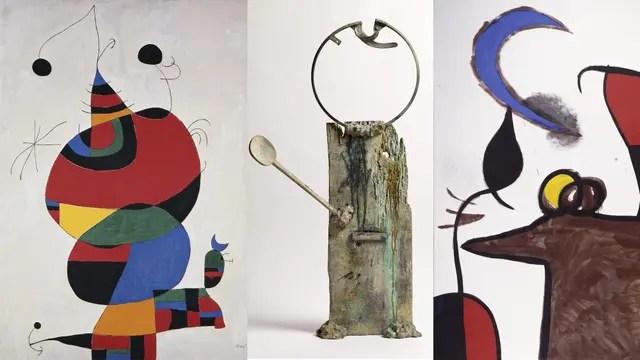Tres de las obras que se exhibirán en el MNBA