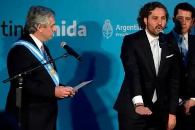 Santiago Cafiero, durante la Jura de ministros