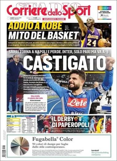 La tapa del Corriere dello Sport