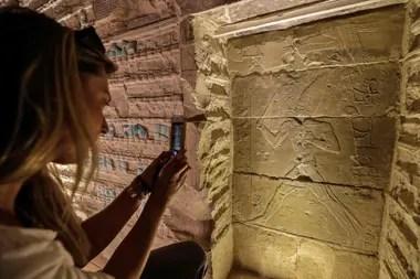 Un detalle del interior de la pirámide Djoser, construida hace 4700 años en Egipto cerca de El Cairo