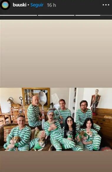 Bruce Willis y Demi Moore transitan la cuarentena junto a sus tres hijas, y la actual esposa del actor, junto a sus dos hijas pequeñas