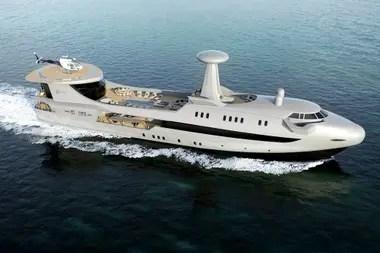 El JET 2020 de Codecasa está equipado con todos los amenities de este tipo de embarcaciones, con piscina, helipuerto y un amplio deck central