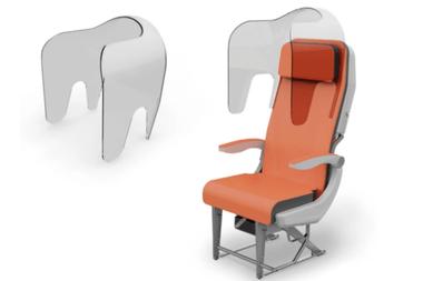 Entre los prototipos de los asientos de los aviones se destacan aislar a los pasajeros con un vidrio