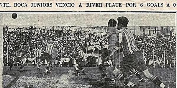 Articolo giornalistico dell'epoca, che racconta la più grande sconfitta del River nel Superclasico. Fonte: lanacion.com.ar