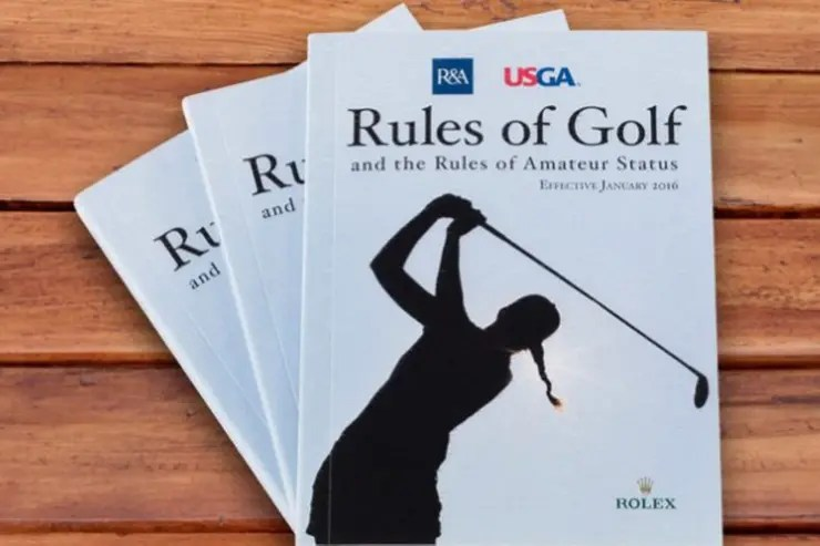 El libro con las reglas del golf