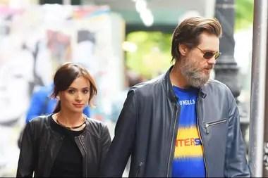 Carrey con su fallecida novia, la maquilladora Cathriona White