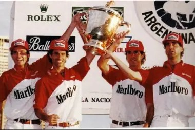 Chapaleufú champion with the four Heguy brothers: Bautista, Gonzalo, Horacito and Marcos