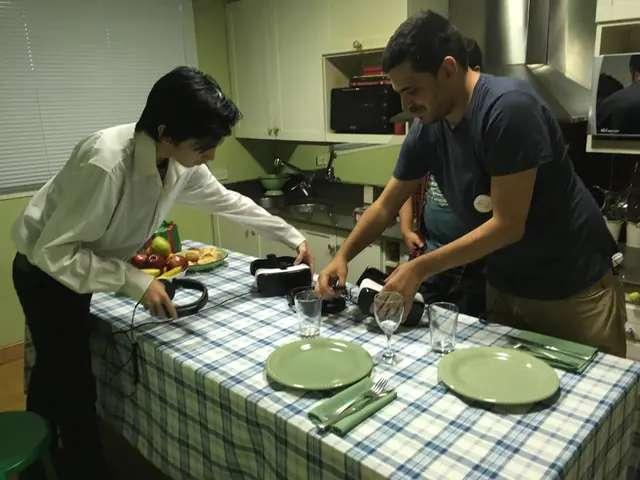 En la cocina de la casa donde se montó la experiencia trabajaron técnicos y productores
