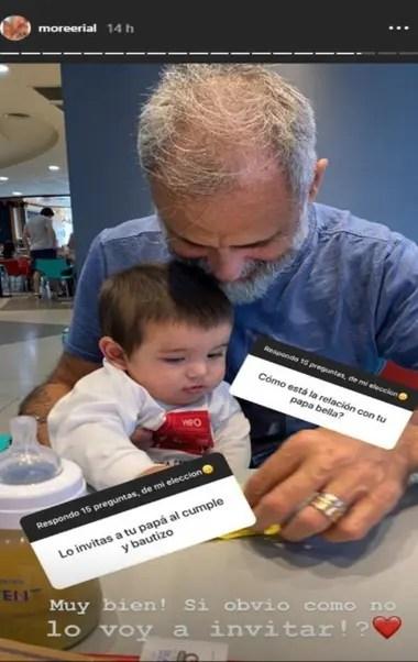 Morena dijo que su padre será invitado al bautismo de su hijo Francesco